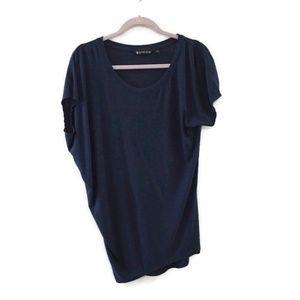 ATHLETA Threadlight Asymmetrical yoga t-shirt